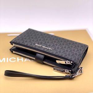 Michael Kors DoubleZip Wallet Wristlet Phone Case